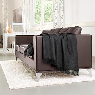 Plaid baby-alpaga 180 x 180 cm, parfait également comme couverture douillette pour deux. Par Kero Design/Pérou.