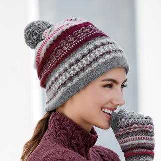 Écharpe vario ou Gants Eribé 2 en 1 Très polyvalent : bonnet le matin, écharpe l'après-midi, beanie le soir. Par Eribé, spécialiste de la maille.