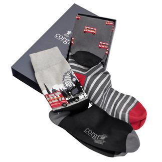 Lot de 3paires de chaussettes Corgi Offrir des chaussettes ? Oui mais seulement des Corgi !