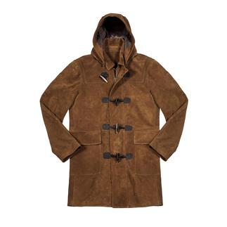 Duffle-coat en suède de chèvre Hackett London Fabriqué à partir du meilleur suède de chèvre : le duffle-coat de première classe d'origine britannique.