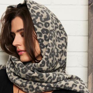 Écharpe capuche léopard Henriette Steffensen Multitalent léger de 200 grammes : l'écharpe à capuche léopard en noble laine polaire. De Henriette Steffensen.