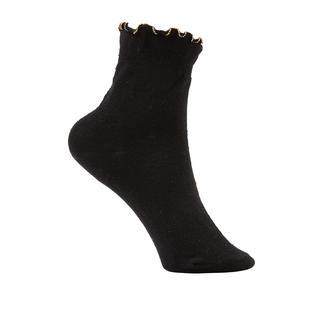 Socquettes perlées Oroblu Qualité haut de gamme du spécialiste de la bonneterie. Avec bord à volant et véritables perles tricotées.