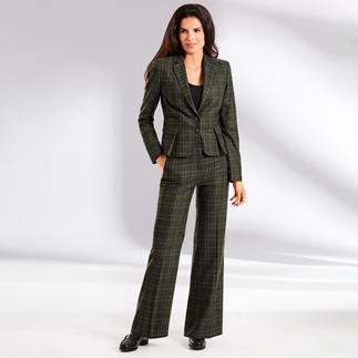 Blazer ou Pantalon Marlene à carreaux Benbarton Pantalon d'affaires. Motif à carreaux. Pantalon Marlène : les 3 classiques qui font la mode d'aujourd'hui.