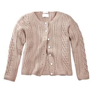 Cardigan en tricot Aran Peregrine pour femme La réponse stylée aux multiples motifs torsadés fantaisie : le motif traditionnel Aran tricoté en Angleterre.