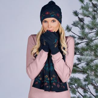 Bonnet, Écharpe ou Gants en tricot alpaga Beaucoup plus artistique, plus coloré que beaucoup d'autres motifs floraux tendance.