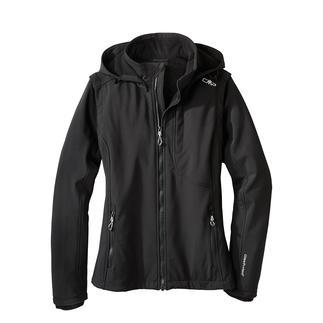 Veste en softshell, femme Élancée, légère et pourtant bien chaude. Veste en softshell, avec WindProtect® de CMP.
