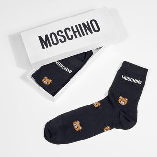 Chaussettes ours en peluche Moschino et Chaussettes montantes avec Wording Look stylé, prix abordable, emballage élégant : le cadeau idéal pour toutes les fashionistas.