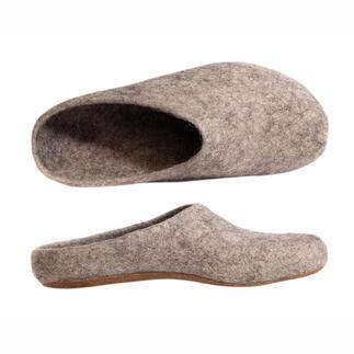 Chaussons en alpaga Magicfelt Des pantoufles faites de laine d'alpaga incroyablement chaude et régulant agréablement la température.