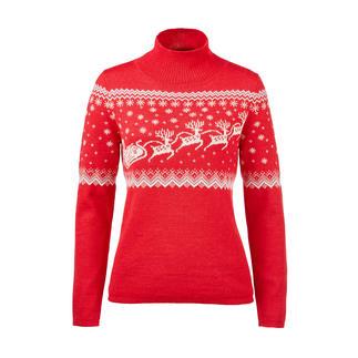 Pull norvégien Santa Claus Incroyablement doux. Étonnamment robuste. Tricot jacquard artistique.
