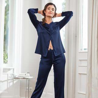 Pyjama en soie Chiara Fiorini, Bleu nuit Un luxe made in Italy – à un prix étonnamment abordable. De Chiara Fiorini.