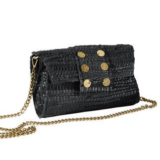 Clutch Kooreloo Le sac haute couture de la nouvelle marque Kooreloo : tissé à la main, en cuir et coton.