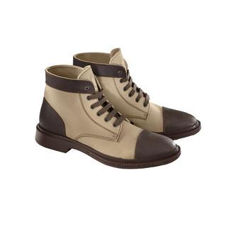 Bottines Workwear Pezzol En plein dans la tendance du workwear : les bottines de sécurité des travailleurs des plateformes pétrolières.
