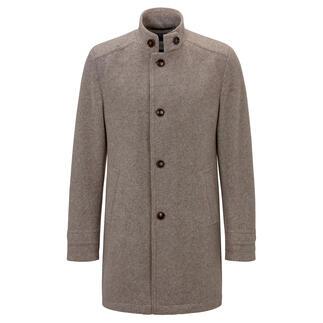 Manteau en jersey bouilli Carl Gross Doux et chaud comme un manteau en loden classique. Mais beaucoup plus léger, plus confortable et moins froissable.
