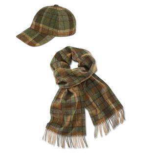 Écharpe ou Casquette à carreaux en laine d'agneau De John Hanly & Co, maison ancrée dans la tradition depuis 1893.
