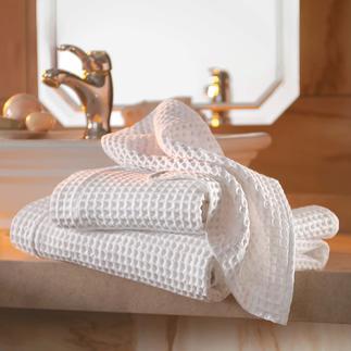 Serviettes de bain gaufrées, lot de 2 Un spécimen rare dans le monde – un classique traditionnel riches de traditions en Italie.
