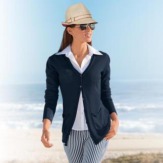 Gilet en maille de lin Phil Petter Plus agréable, plus habillé et beau que toute autre veste de costume en plein été.