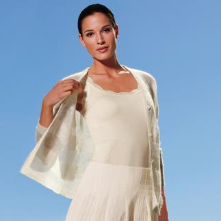 Veste en tricot Cobweb Votre veste en tricot vraisemblablement la plus légère ne pèse que 80 grammes.