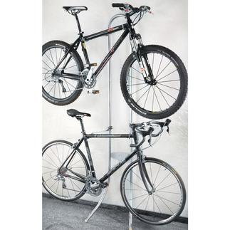 """Le """"valet"""" pour vélo Sans percer. Sans visser. Suspendre tout simplement."""