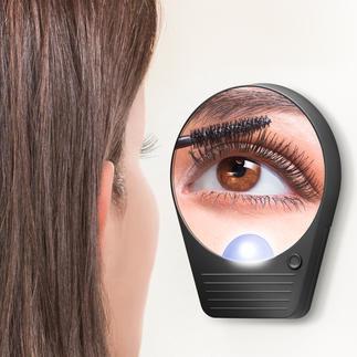 Miroir grossissant Le miroir de poche grossissant x10 – sans déformation. Avec éclairage.