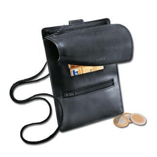 La pochette tour de cou en cuir Plus qu'une simple pochette tour de cou.