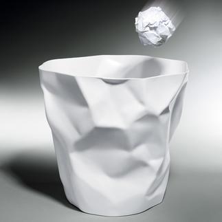 """La corbeille à papier """"chiffonnée"""" Au premier coup d'œil, on dirait que ce n'est que du papier. En vérité, elle est stable et robuste."""