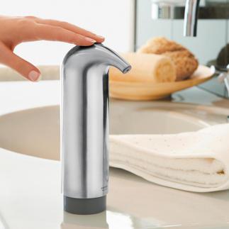 Distributeur de savon design Plus joli, plus propre, plus hygiénique : le distributeur de savon design sans recoins ni arêtes.