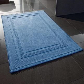 Tapis de bain non pelucheux 60 x 90 cm 100 % coton souple absorbant. Résistant à la machine à laver et au sèche-linge.
