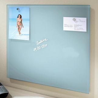 Tableau magnétique en verre Enfin un tableau d'affichage au design attrayant.