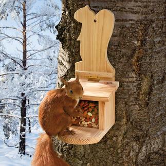 Mangeoire pour écureuils Très bientôt, le lieu de rendez-vous le plus vivant de votre jardin.