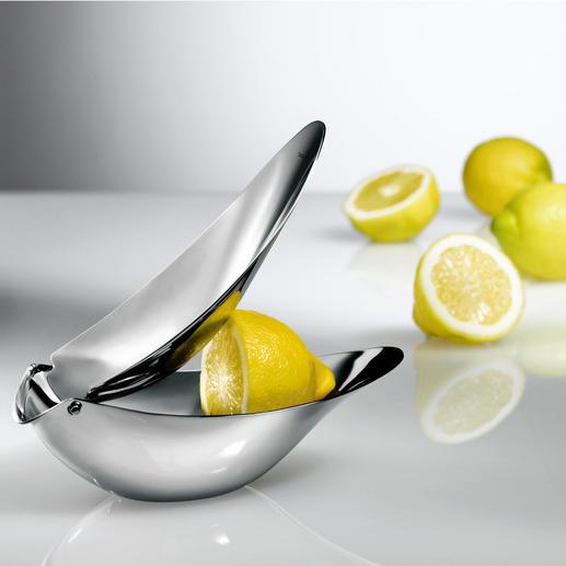 Presse-agrumes design Pour servir un jus fraîchement pressé, sans pépins. Pas de projections ni de salissures.