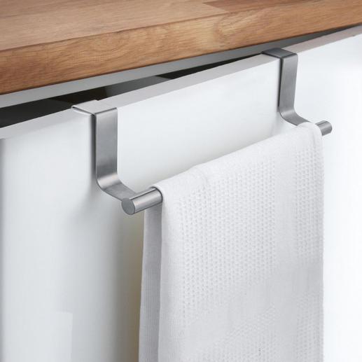 Porte-serviettes, lot de 2 Il suffit d'accrocher ce porte-serviettes sur la porte d'un placard. Idéal pour cuisine et salle de bain.