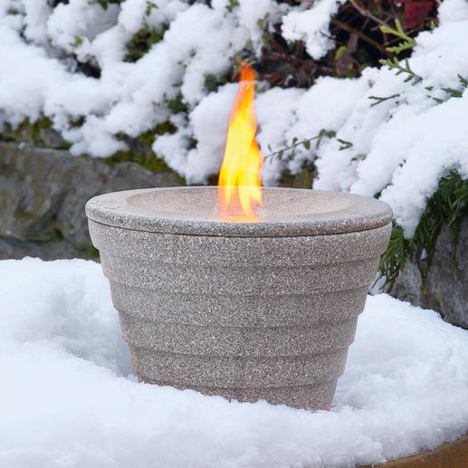Brûleur avec couvercle pour l'hiver (disponible séparément).