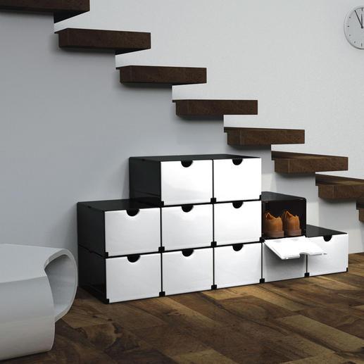 Super boîtes pliantes En un tour de main : un placard à chaussures, un conteneur de bureau, une étagère de salle de bain ...