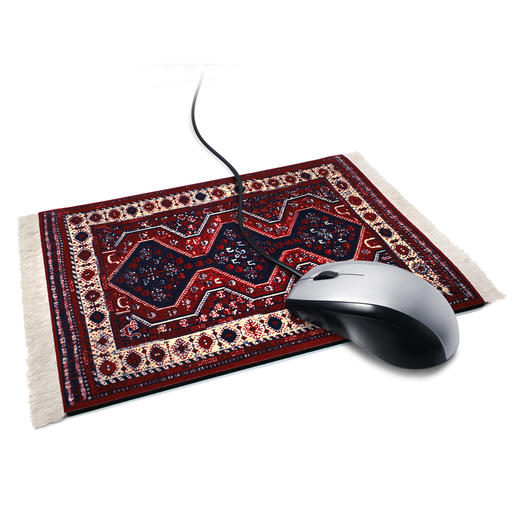 Tapis de souris « Le tapis de Sigmund Freud » Le tapis de canapé réputé de Sigmund Freud : le poste de travail certainement le plus insolite pour votre souris d'ordinateur.