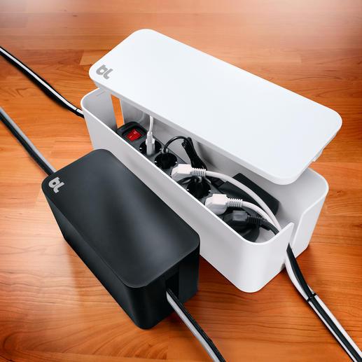 CableBox™ compact ou CableBox™ La « CableBox™ » fait disparaître les multiprises inesthétiques tout en discrétion. En 2 couleurs et 2 tailles.