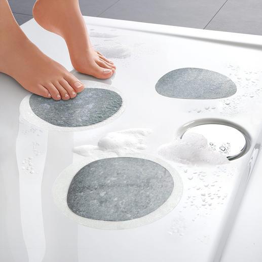 Stickers de sol antidérapants « Pierres » Lot de 3 Lorsque beauté rime avec sécurité. Il suffit de les coller – durée de vie 2 ans.