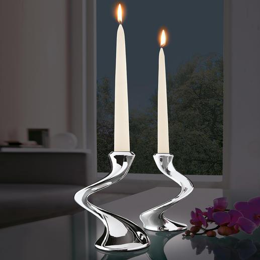 """Chandelier """"Windrush"""" S'accorde à tous les décors de table, en solo ou en chandelier. Fait d'un seul tenant & sans joint."""