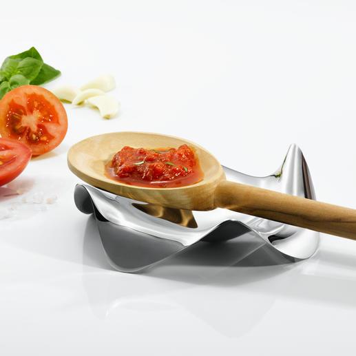 Repose-cuillère design par Alessi Sans nul doute le plus beau et le plus fonctionnel des repose-cuillères. Par Alessi.
