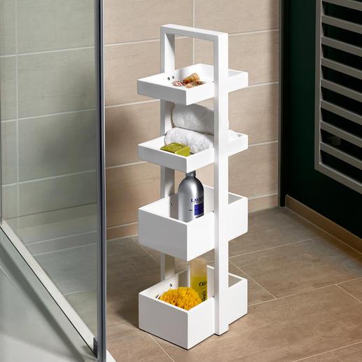 Étagère design wireworks - Valet de nuit, plateau à étage ou étagère maniable avec un espace de rangement pratique.