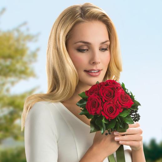 Le bouquet de 6 roses est un cadeau  très apprécié à la Saint-Valentin ou la fête des mères, pour un anniversaire ou un anniversaire de mariage.
