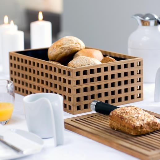 Corbeille à pain en teck Un look 100 % danois pour cette élégante boîte à pain très réussie.