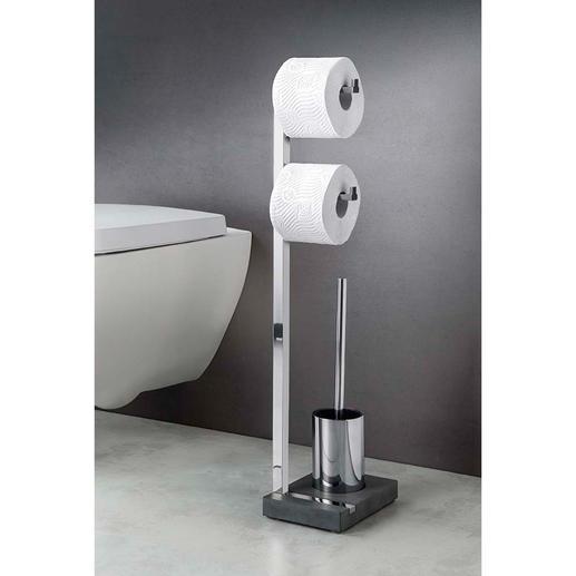 Avec son design remarquable, la série pour salle de bain et toilettes Polystone est compacte et stable.