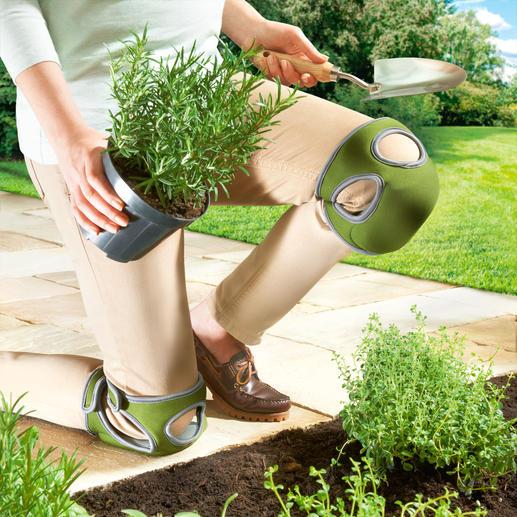 Protège-genoux Kneelo™, la paire Protège-genoux tout confort avec technologie double-mousse : légers, souples et stables en même temps.