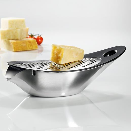Râpe à fromage design blomus® La meilleure façon de râper du fromage : sans miettes et prêt à être servi.