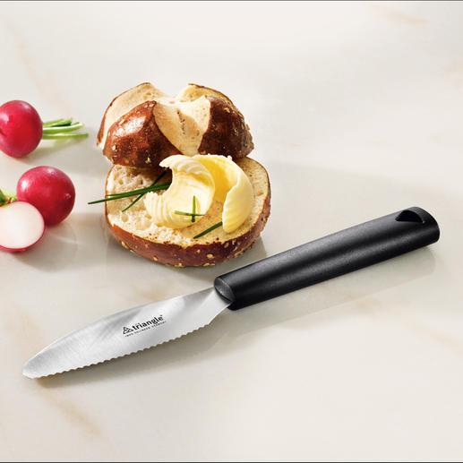 Couteau petit-déjeuner Triangle® Enfin un couteau idéal pour le petit-déjeuner pour couper et beurrer. En acier inox.