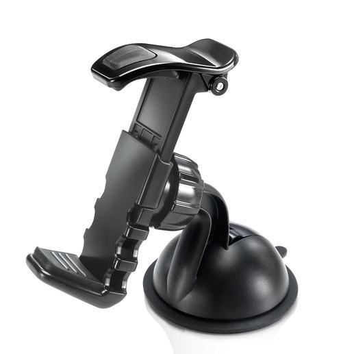 """Fixation à clip """"Easymount"""" Une fixation sûre et élégante pour GPS ou appareils mobiles – n'entravant pas la visibilité."""