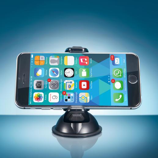 Le joint sphérique rotatif à 360° et basculant vous permet de placer tout appareil mobile dans le meilleur angle de vue.