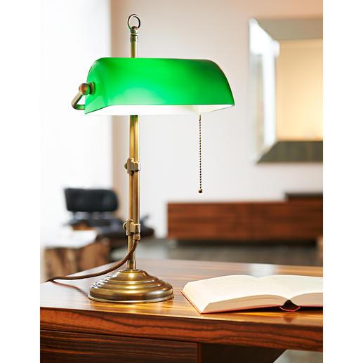 Lampe de banquier en laiton La légendaire lampe de banquier.