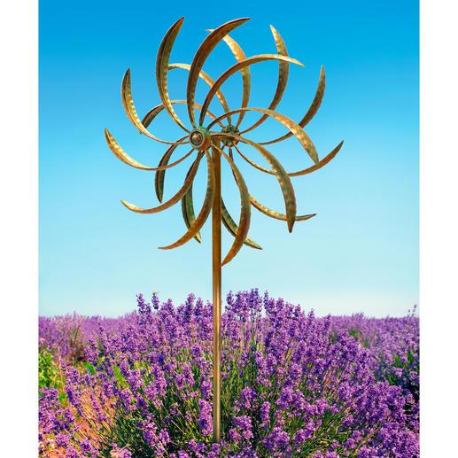 Moulin à vent double Deux éoliennes en sens inverse produisent un effet optique magique.