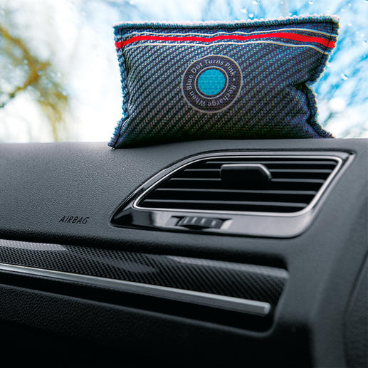 Déshumidificateur automobile XXL avec indicateur, lot de 2 pièces Le déshumidificateur réutilisable avec indicateur breveté.